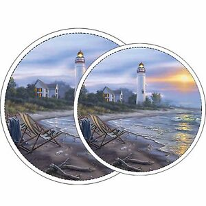 Electric Stove Top Range Round A Perfect Day Design Burner Cover Set of 4 NEW