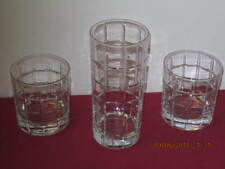 """Pottery Barn """"Library"""" Db'L Old Fashioned Drink Glasses (2) + Highball (1)"""