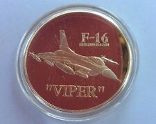 F-16 Fighting Falcon Viper Electric Jet Multirole Fighter American Coin Gold