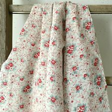 1920's light weight faded floral French fabric Shabby Chic design