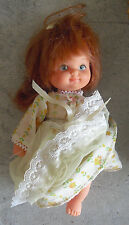 "Vintage 1972 Mattel Plastic Red Hair Girl Character Doll 7"" Tall"