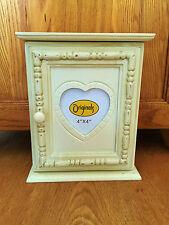 Shabby Chic Cream Wooden Beaded Key Box Keys Storage Holder Stand