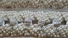 Joblot 12pcs White Pearl Bow Design Sparkly hairclips hairgrips NEW wholesale