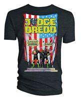 100% Official Merch 2000AD Comics T-SHIRT Top JUDGE DREDD Crimes Against America