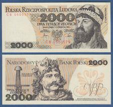 POLEN / POLAND 2000 Zlotych 1982 aUNC  P.147 c