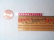 Lionel 145 Gateman 145-25 Lionelville Adhesive Sticker NOS!