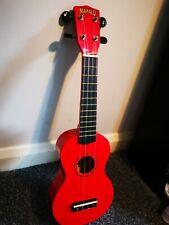 Red ukulele mahalo