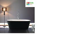 DECINA KOLARA FREESTANDING BATH BLACK/WHITE 1640MM OVAL