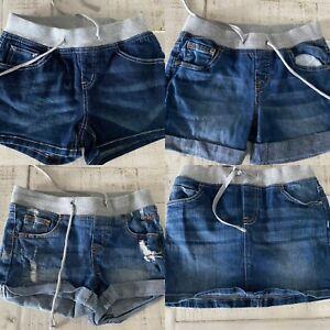Justice Denim Shorts & Skirt Size 10