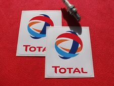 Pair of Total oil stickers