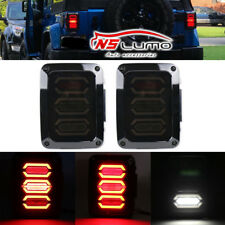 2x LED Tail Light Rear Reverse Brake Turn Signal Lamp for 07-16 Jeep Wrangler JK