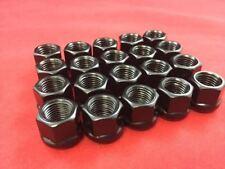 """20pcs Open End Bulge Acorn Wheel lug nuts 7/16"""" BLACK Finish"""
