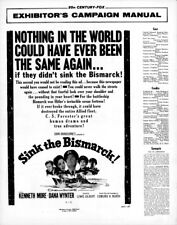 SINK THE BISMARK pressbook, Kenneth Moore, Dana Wynter in CINEMASCOPE