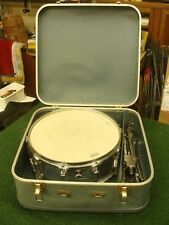 "Vintage 14"" Chrome Snare Drum Made in Japan 10 Lug w/case Ludwig Rocker bottom"