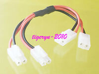 Tamiya 2 Male to 2 Female Battery Extension Cable for RC Car Boat LiPO Ni-CD