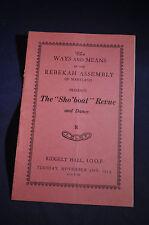 1939 Rebekah Assembly Maryland Sho'boat Revue' Oddfellows
