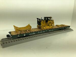 ATLAS TRAINMAN Custom CATERPILLAR WITH D8T Bulldozer Chained Wood deck