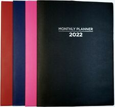 New Listing2022 Monthly Planner Calendar Agenda 8 In X 10 In Select Your Color