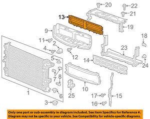 Buick GM OEM 17-18 Envision 2.5L-L4 Radiator-Grille Shutter 84095662