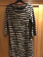 Lovely Classic Feminine Phase Eight Striped Stretch Tunic Dress UK Size 10-12