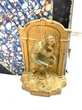 Metalware Antique Vintage The Thinker Bookends Cast Iron Patina Book Ends