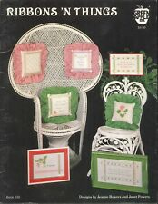 Ribbons N Things Cross Stitch Booklet Green Apple #530 Geranium Jonquil w Bow