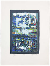 LARGE Signed Silk Screen Print By Portuguese Artist MANUEL CARGALEIRO, 1978