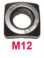 M12 Stainless Square Nuts - 12mm Stainless Steel Square Nuts x5