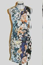 Andrew Marc ADELE river stone floral print silk cotton dress-$260-sz 8 M-NWT