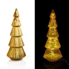 Großer XXL LED Tannenbaum mit Timer aus Glas in Gold - Weihnachtsdeko für außen