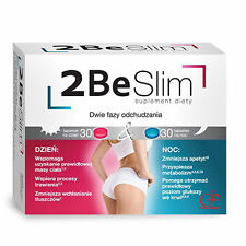 2 BE SLIM Weight Loss System 60 tablets Day & Night Supplement Free Delivery!