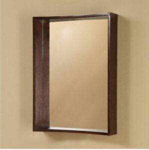 Decolav Wall Mirror Walnut Finish 9790DWN 3B1