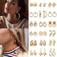 Fashion Women Jewelry Large Circle Geometry Metal Ear Studs Drop Earrings Dangle