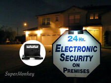 Solar Powered Clip on Light for Security Yard Sign (SECURITY SIGN NOT INCLUDED)