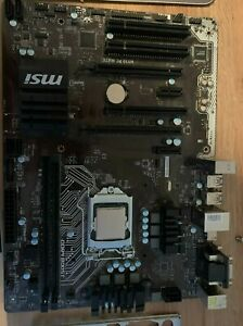 msi pcmate h110 motherboard and i3 6100 cpu bundle