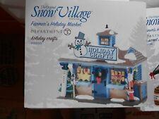 DEPT 56 SNOW VILLAGE Farmer's Holiday Market HOLIDAY CRAFTS *Excellent Display*