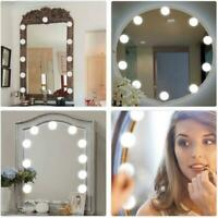 10W Hollywood Style LED Coiffeuse Miroir Feux Kit pour Maquillage 10 Ampoules