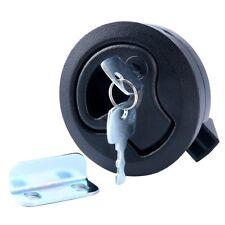 "New!! Black 2"" Flush Pull Slam Latch for Boat Deck Hatch 1/4"" Door Locking Style"
