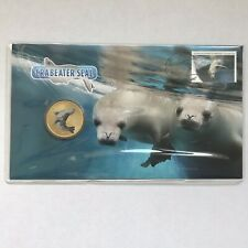 2018 $1 Crabeater Seal Pnc with Coloured Coin