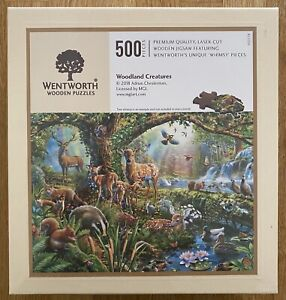 """*New* WENTWORTH """"Woodland Creatures"""" 500 piece Wooden Jigsaw Puzzle (Whimsy)"""