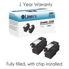 2 Black 1660w Toner Cartridge Pack Set For Dell Laser C1660 C1660w C1660cnw 1660