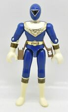 Power Rangers Zeo Blue Ranger From Jet Cycle III Loose Action Figure Bandai 1996