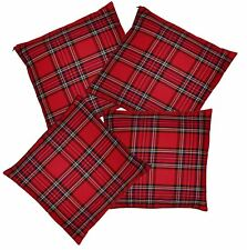 Red Tartan Pillow Case Throw Cushion Cover Burns Night Christmas Decoration