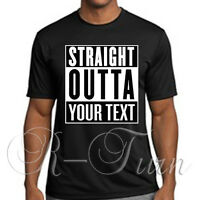 STRAIGHT OUTTA COMPTON CUSTOM T SHIRT URBAN MOVIE FUNNY ICE CUBE DRE COLLEGE NWA