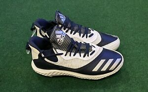 Adidas Icon V Bounce Iced White Blue Baseball Cleats Men's Size 11 EE4128