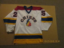 Peoria Chiefs Youth Hockey #25 Size M Athletic Sewing Game Used Hockey Jersey