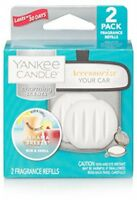 Yankee Candle Charming Scents Car Air Freshener Refill 2-Pack, Bahama Breeze