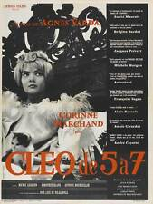 CLEO FROM 5 TO 7 Movie POSTER 11x17 French