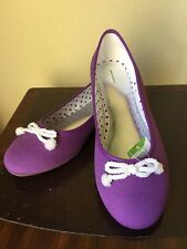 Lands' End Big Girl Shoes Size: 6 M (Eu 38) (Uk 5) New Ship Free Flats Bow