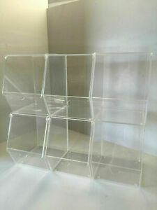Acrylic Pick and Mix/Condiment Storage Display Pack of 6 Individual Bins
